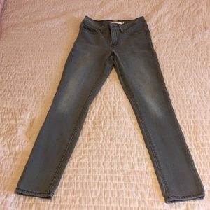 Grey high waisted Levi's jeans